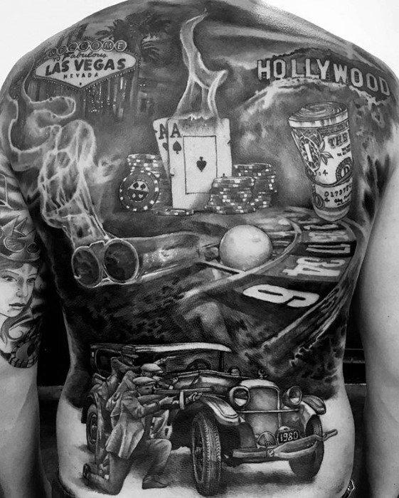 gambling-themed tattoo