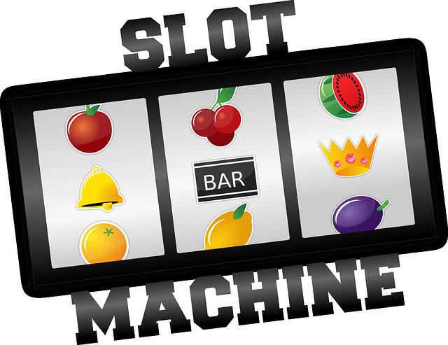 slot machine colored fruits